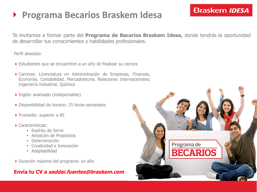 Programa Becarios Braskem Idesa Facultad De Ingenier 237 A