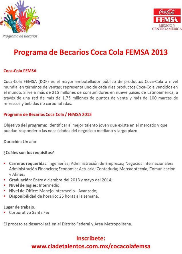 Programa De Becarios Coca Cola Femsa 2013 Facultad De